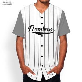 Jersey Béisbol Rayas Y Combinación Mangas Personalizado · 10 colores f11bcd50288