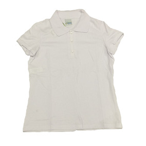 Camiseta Básica Polo Feminina Sem Bolso Lisa Branca Malwee 86bf99b8552c5