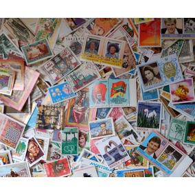 Lote Com 1500 Selos Comemorativos Universais Carimbados