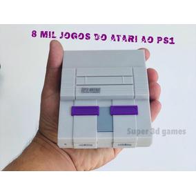 Super Nintendo Mini Com 8 Mil Jogos 2 Controles + Ps1 + N64