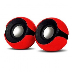 Caixa Som Mini ( 5w) (vermelho/preto) (usb) (exbom) (cs-69)