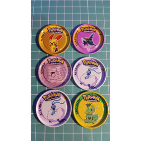 Lote 6 Tazos Rappers Metal Pokemon Panini