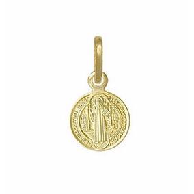 Mini Pingente Medalha São Bento Em Ouro 18k Frete Grátis - Joias e ... e187e8bc7f