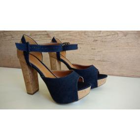 Sandália Meia Pata Jeans/cortiça