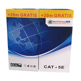 Cable Utp Cat 5e Bobina 305 + 20 Metros Netvision 360 Cat5e