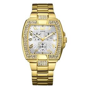 Relógio Guess U15014l1 Pulseira Dourada Com Cristais