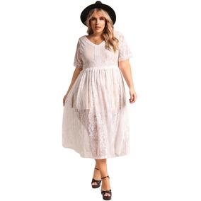 Elegante Vestido Talla Extra Princesa Encaje 610513 1