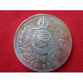 Moeda Antiga De Prata Decreto De 1870 * 2 000 Reis *