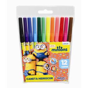 Caneta Hidrocor Minions - 12 Cores