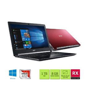 Notebook Acer Amd A12 Quad Core 15.6 8gb+2gb Hd 1tb