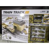 Set De Tren+wagon Militar+7 Caros Militares Doble Pista +bas