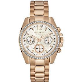 Reloj Mujer Wittnauer Pulsera De Acero Dorado