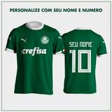 51ede34890 Camisa Palmeiras Personalizada Com Nome no Mercado Livre Brasil
