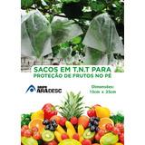 100 Sacos Tnt Proteção Frutas No Pe 15x25cm Fruta Protegida