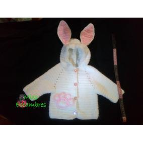 Abrigo De Conejo De Bebé Tejido A Mano Crochet
