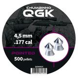 Chumbinho Qgk Pointed 4,5mm 500 Unidades