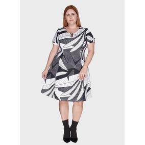 6412eb94b Vestidos Plus Size Animal Print Big Choice. - Vestidos Casuais ...