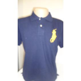 Camisa Polo By Ralph Lauren Azul Cavalo Amarelo Tam P- fa5142d7f32