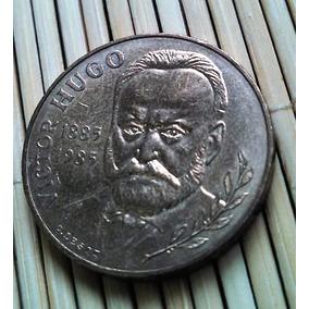 Moeda 10 Francos 1985 - Victor Hugo - Escritor