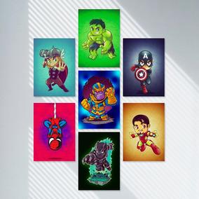 Vingadores Guerra Infinita Kit Quadrinhos Decorativos