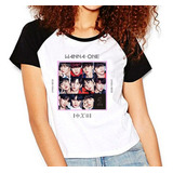 Camiseta Wanna One Undivided Kpop Raglan Babylook