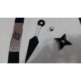 Kit Naruto Kunai + Shuriken + Bandana + Anel