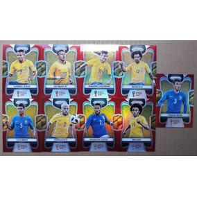 9 Card Prizm Refractor Vermelho Série #/149 Copa Mundo 2018