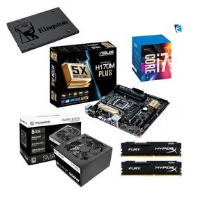 Kit Intel Core I7 7700 H170m Plus 2x 8gb Fury Tt600 Sss120 I
