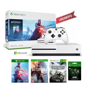 Xbox One S 1tb Bundle Battlefield V Hdr Bluray 4k Lançamento
