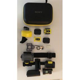 Filmadora Sony Action Cam - Hdr-as15 Com Acessórios