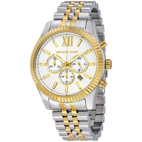4fc5b83c8569e Relógio Feminino Mk Prata E Dourado - Relógios no Mercado Livre Brasil