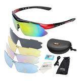 Sports Gafas De Sol Polarizadas,, 5 Lentes Intercambiables