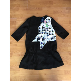 Vestido Corto Negro Do+be Talla S