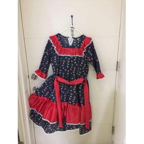 Vestido De China/huasa Talla 16 (m) 1 Uso. Valpo.
