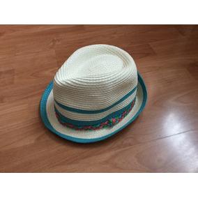 Xoxo Sombrero Tipo Fedora Color Perla/ Turquesa
