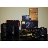 Cámara Nikon D3200 + 3 Lentes (kit- Tele - Ojo De Pez)