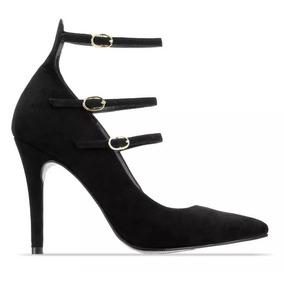 Zapatos Negros Tacon Y Correa - Zapatos de Mujer en Mercado Libre México 862e020a31d5
