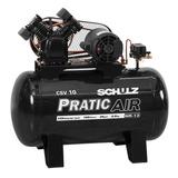 Compressor De Ar 2cv 10 Pes 100 Litros Trifásico Csv Schulz