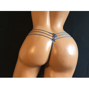 Exclusiva Tanga V String Victorias Secret Gris 1lt14