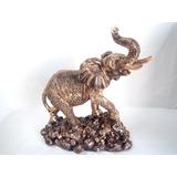 Estatua Elefante Cerámica Decoracion Armonia Abundancia