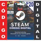 Tarjeta Steam De Dota 2 De S/20