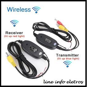 Transmissor E Receptor Wireless Vídeo Câmera De Ré Veicular
