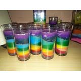 Vela 7 Chackras, 7 Potencias, Decorativa, Colores Abundancia