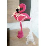 Flamingos Em Feltro Em Pé