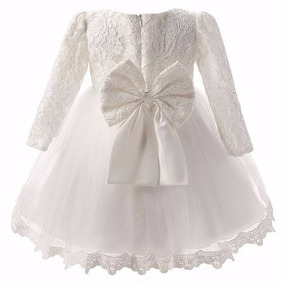 Vestido de dama manga longa