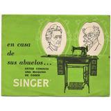 Singer Máquinas De Coser Antiguo Plegable