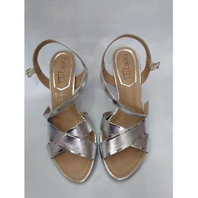 bf7ef7fbda Sandália Salto Prata Nº 36 Marca Imporium Feminino - Sapatos ...