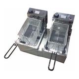Freidora Electrica Automatica Roa Doble Canasto 16 Lts Acero