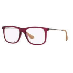 Armação Oculos Grau Ray Ban Rb7054l 5526 Roxo Transparente 85386edd9d
