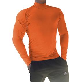 Camiseta Gola Alta Manga Comprida Segunda Pele Gola Rolê